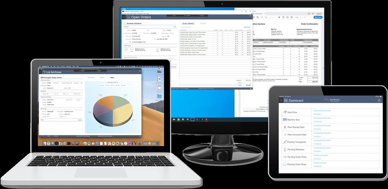 Nursery inventory software runs on Mac, Windows and iPad